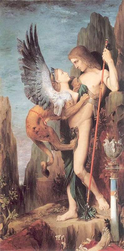 Image result for moreau oedipus and the sphinx