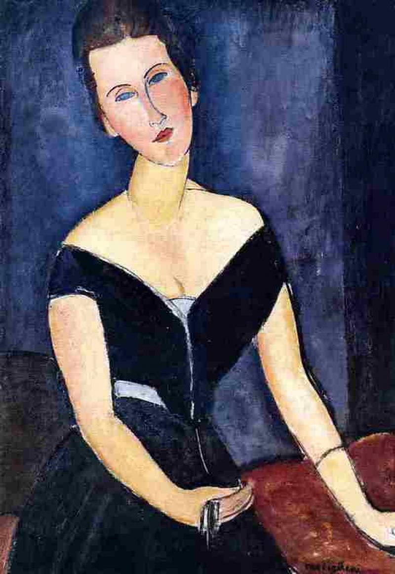 Madame Georges van Muyden by Amedeo Modigliani via DailyArt app, your daily dose of art getdailyart.com