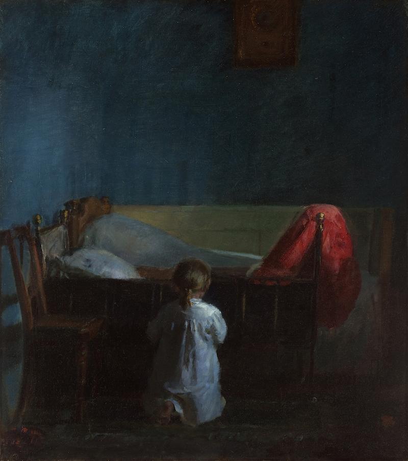 Evening Prayer by Anna Ancher via DailyArt mobile app