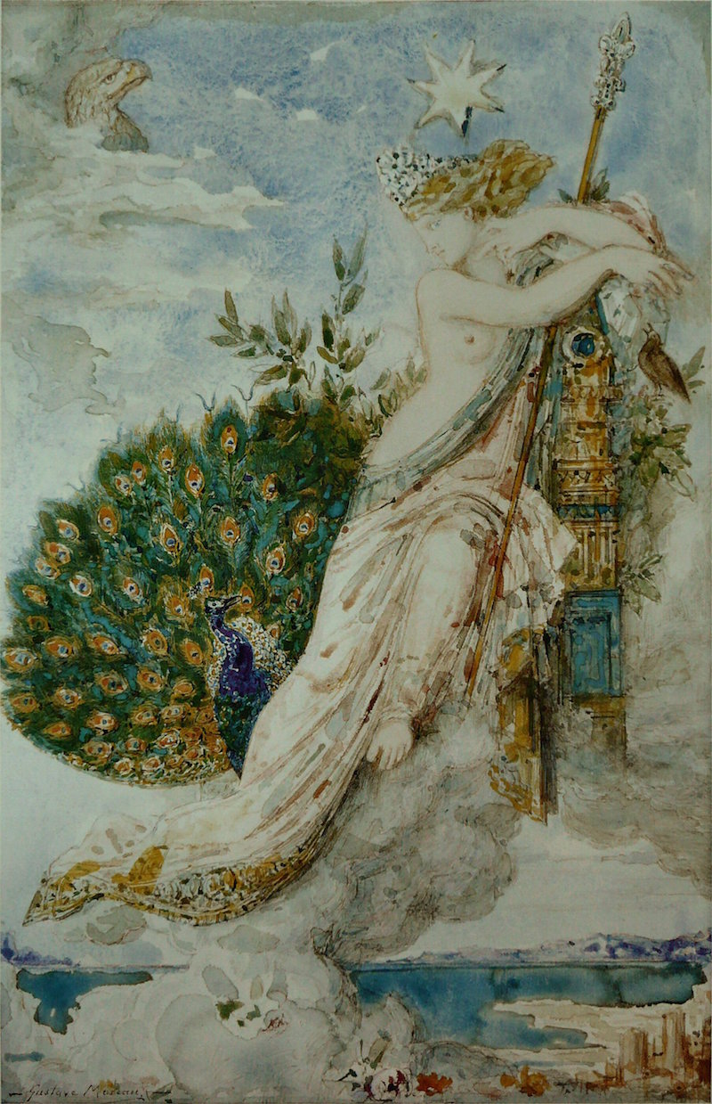 The Peacock Complaining to Juno by Gustave Moreau via